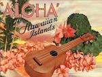 ukulele postcard